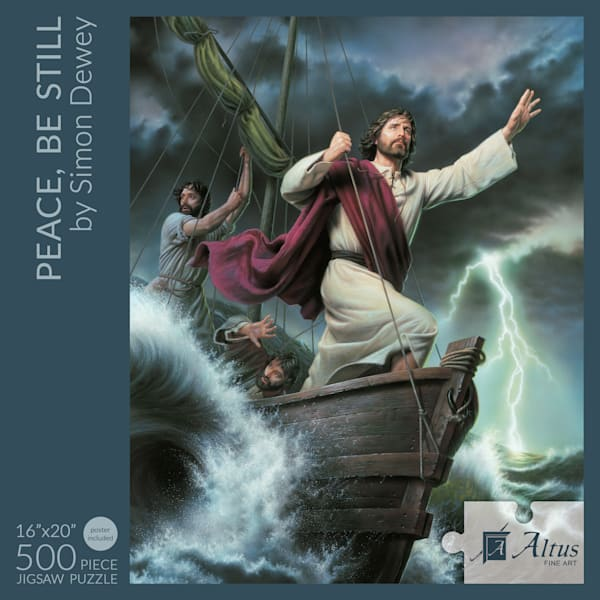 Peace, Be Still 16x20 Puzzle 500 Pieces By Simon Dewey | Cornerstone Art