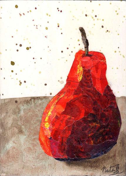 The Red Pear: Bartlett Art | Poppyfish Studio