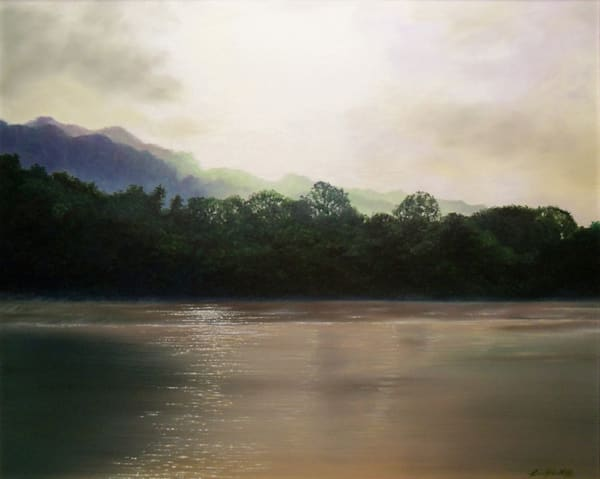Morning on the Monongahela - oil painting by Erin Pyles Webb