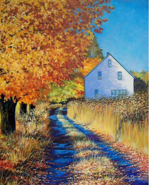 Autumn Lane - oil painting by Erin Pyles Webb