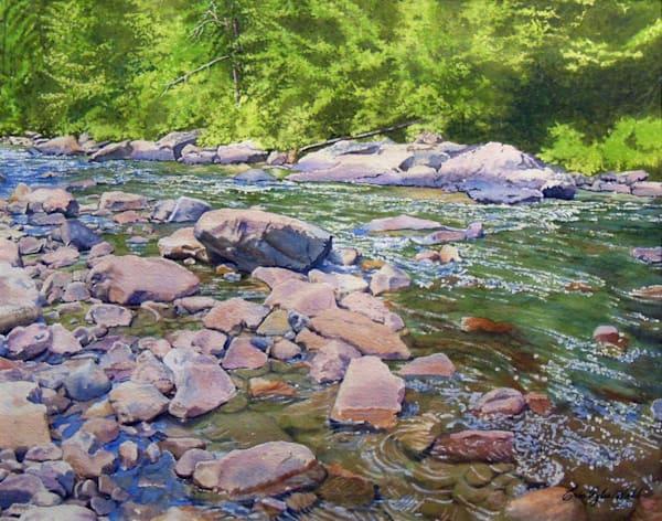 Elk River - watercolor painting by Erin Pyles Webb