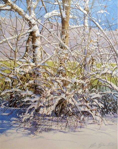 Erin Pyles Webb - Winter Berries watercolor painting