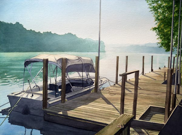 Don's Boat - watercolor painting by Erin Pyles Webb