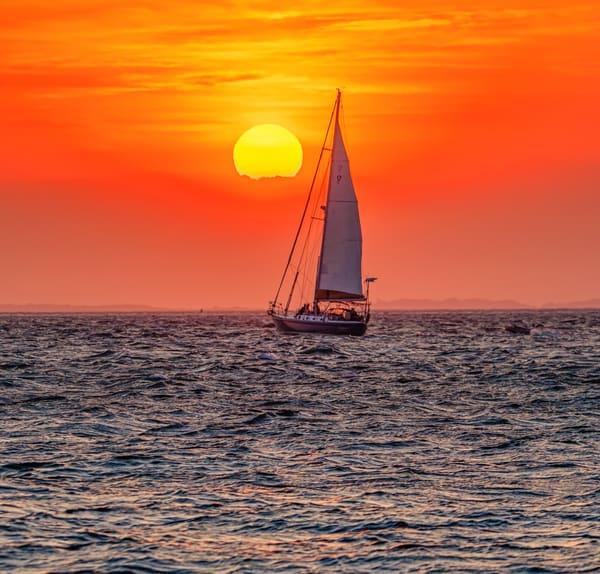 Harbor Spring Sunset Cruise Art   Michael Blanchard Inspirational Photography - Crossroads Gallery