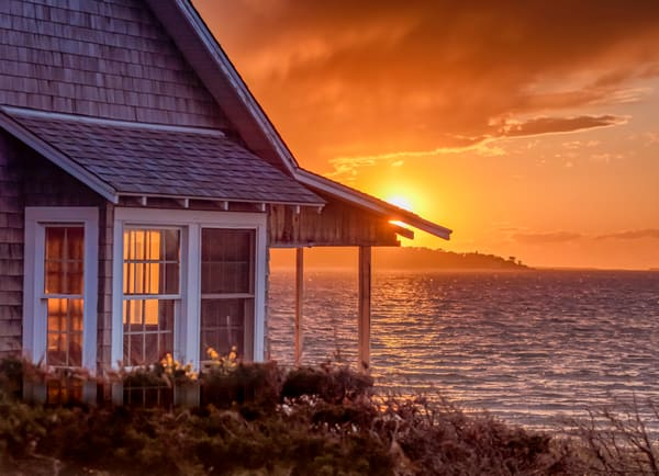 East Chop Cottage Sunset Art | Michael Blanchard Inspirational Photography - Crossroads Gallery