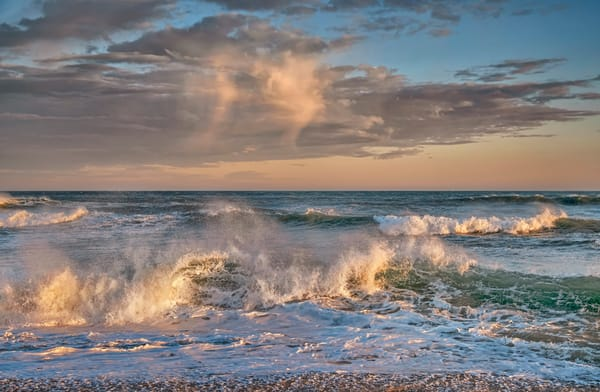 South Beach Clouds And Crashing Waves Art | Michael Blanchard Inspirational Photography - Crossroads Gallery