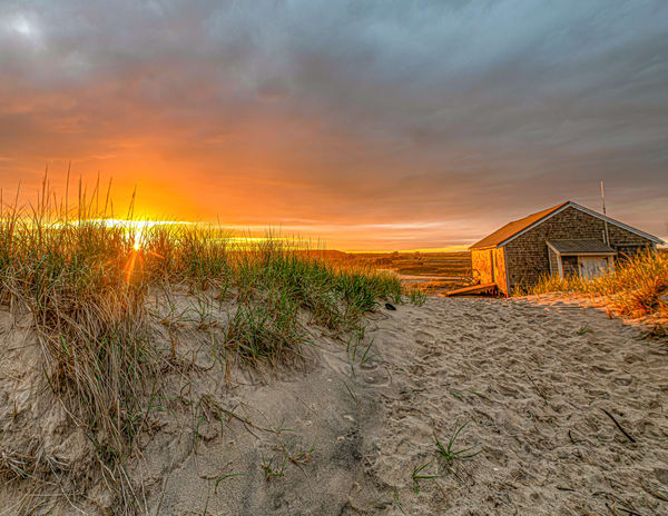 South Beach Sunset Shack Art | Michael Blanchard Inspirational Photography - Crossroads Gallery