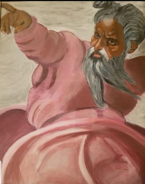 Painting Of Michelangelo S God Creating The Sun Art | Salvatore Ingoglia / Jbellarts