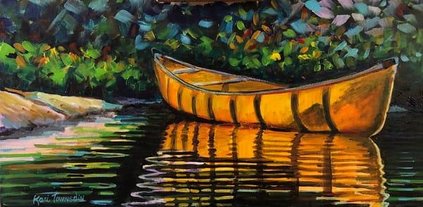 Canoe Reflections Art | Kari Townsdin