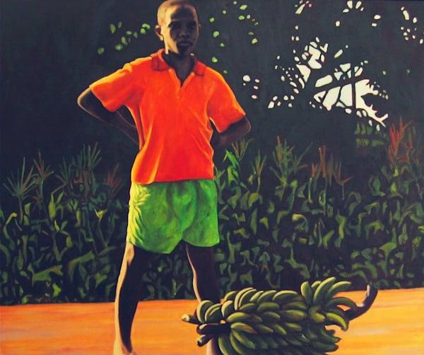 African Boy With Bananas Art | Lidfors Art Studio