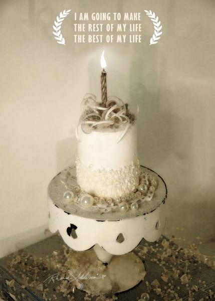 Sparkly White Cake Art