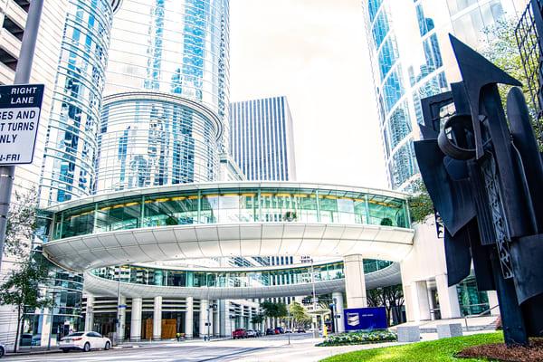 Chevron Skywalk At Allen Center Downtown Houston Tx Dsc 1388 Photography Art   Terri Bahun Fine Art Photography