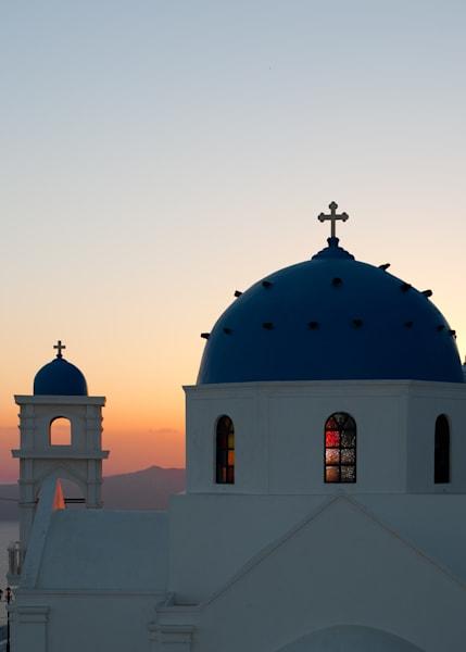 Divine Sunset Over Santorini  Photography Art | Visual Arts & Media Group Corporation