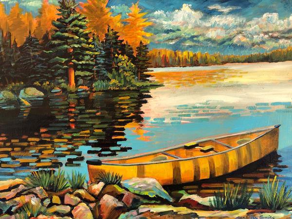 Canoe Trip Art | Kari Townsdin