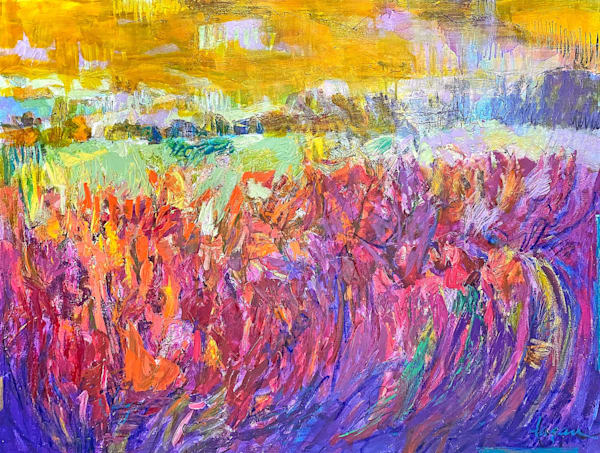 Iris Essence Original Oil Painting Art | Dorothy Fagan Joy's Garden