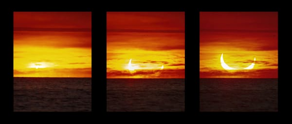 Soloar Eclipse Triptych Photography Art | RAndrews Photos