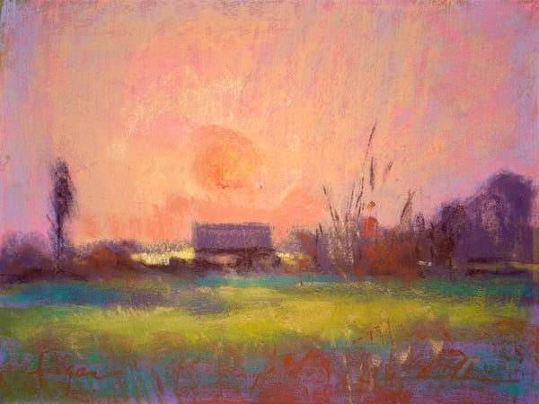 Sunset Painting, Limited Edition Art Print, Twilight by Dorothy Fagan