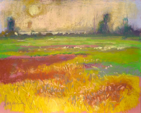 Wildflowers Art, Spring Meadow Painting by Dorothy Fagan