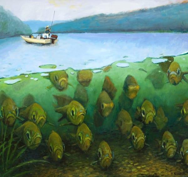 Under Bay Fishing Art   Mid-AtlanticArtists.com