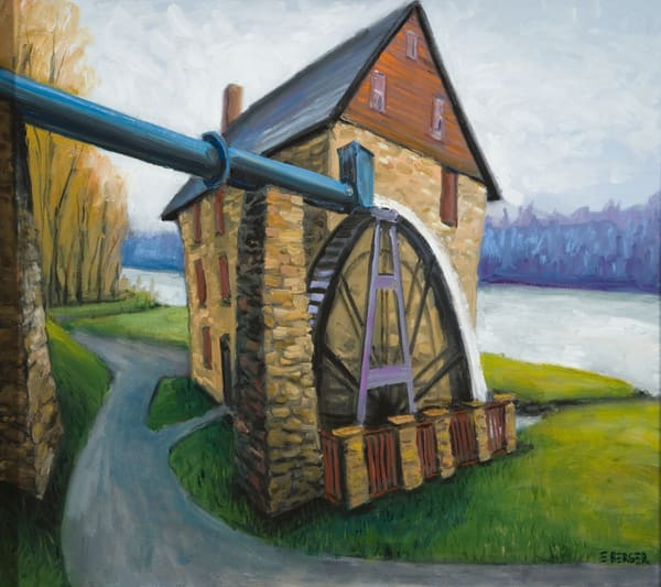 Water Wheel Mill Art   Mid-AtlanticArtists.com