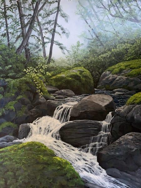 Mossy River Art   Skip Marsh Art
