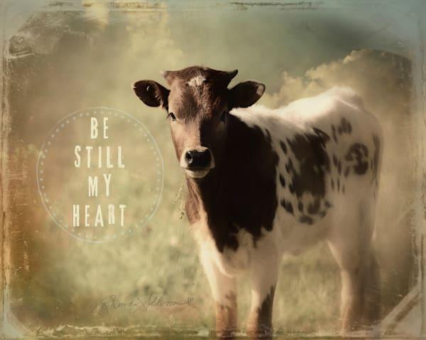 Be Still My Heart Longhorn Calf Art