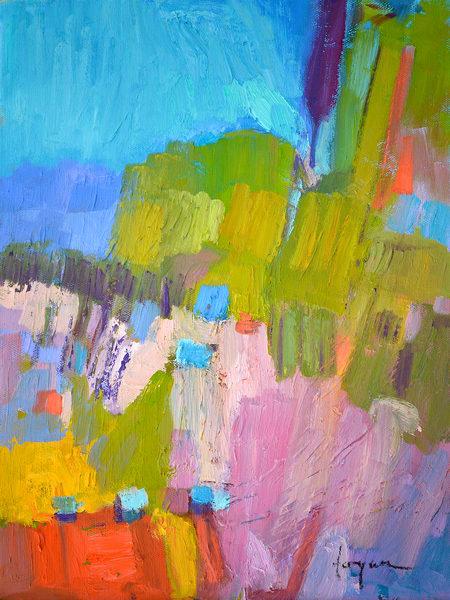 Rising II ~ Goddess Abstract painting, Fine Art Print by Dorothy Fagan