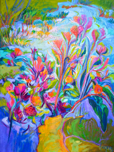 Beautiful Water Lilies Painting, Limited Edition Print by Dorothy Fagan