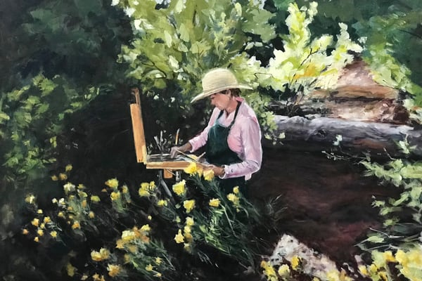 Painting at Ghost Ranch