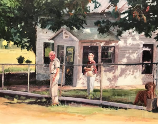 Grandma and Grandpa at the farm in Comfort, Texas
