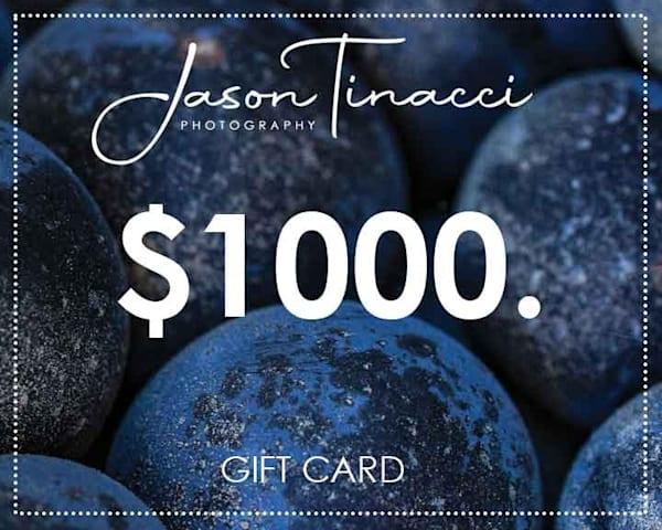 $1,000 Gift Card | Jason Tinacci Photography