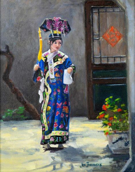 Beijing Girl  Art   Jennifer Zardavets Art
