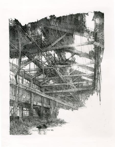 Abandoned 1 Mill  Art   Andre Junget Illustration LLC