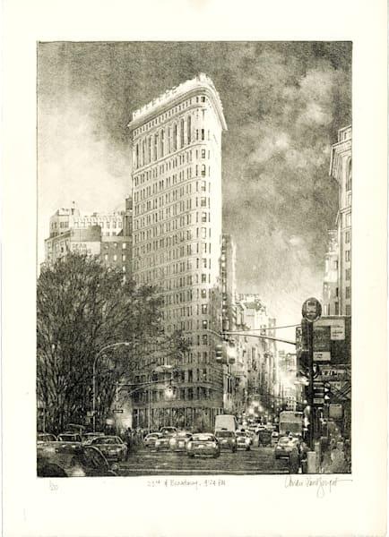 23rd And Broadway  Art   Andre Junget Illustration LLC