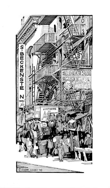 S. Beckenstein, Nyc Pen & Ink Art   Andre Junget Illustration LLC