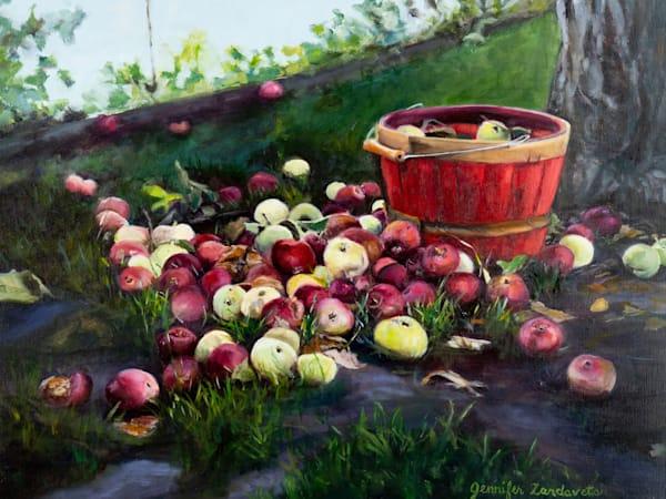 Apple Picking Art   Jennifer Zardavets Art