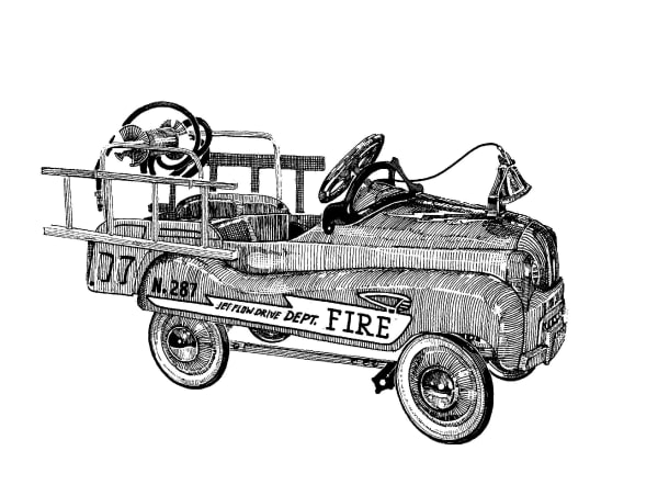 Fire Truck Art   Andre Junget Illustration LLC