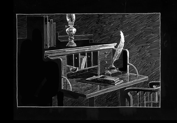 Letter Of Cs Lewis Art | Andre Junget Illustration LLC