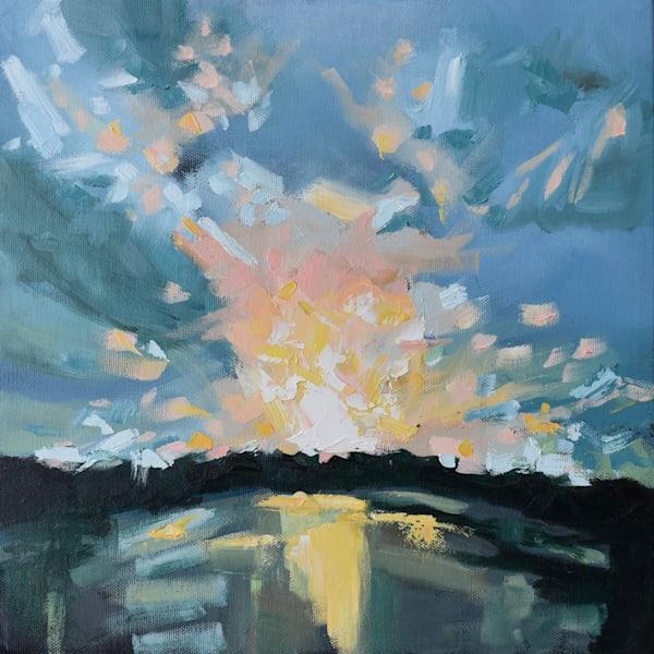 Daybreak Over the Marsh - Original Oil painting by April Moffatt