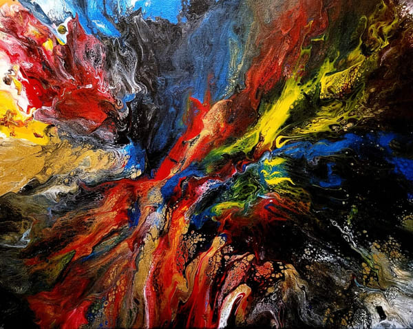 """""""Cosmos"""" in Acrylics on stretched canvas by Aprajita Lal"""