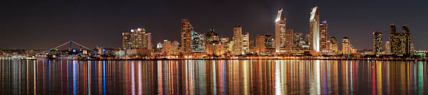 San Diego Skyline Reflections, San Diego, California