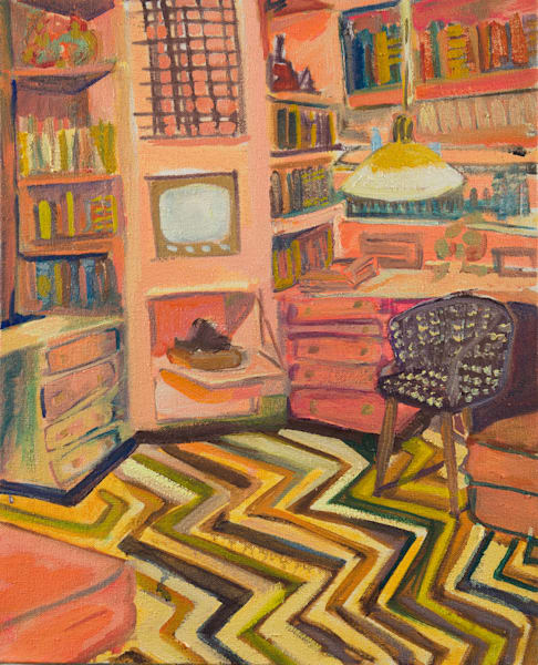 A Small Room That Fits Two Needs Art | Erika Stearly, American Artist