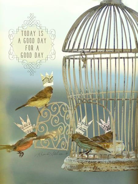 BIRDS GOOD DAY EMBELLISHED ART