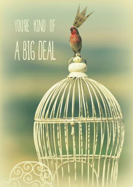EMBELLISHED BIRD Big Deal Art