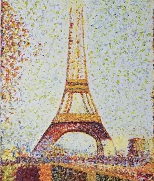 Painting Of Poitillism Painting Of Eiffel Tower Art   Sal Ingoglia / Jbellarts