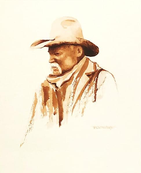 "Raymond Wattenhofer Watercolor Art ""The Intent"""