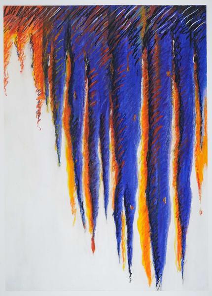 Blue Icicles Art   Joan Bixler Art