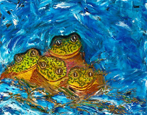 """Four Frogs"" Art   JD Shultz Art"