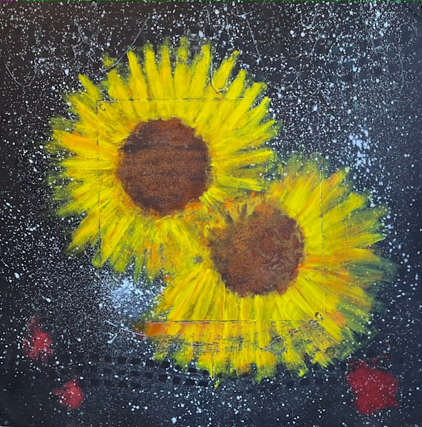 Hubble Generated Sunflowers Art | Adam Shaw Gallery