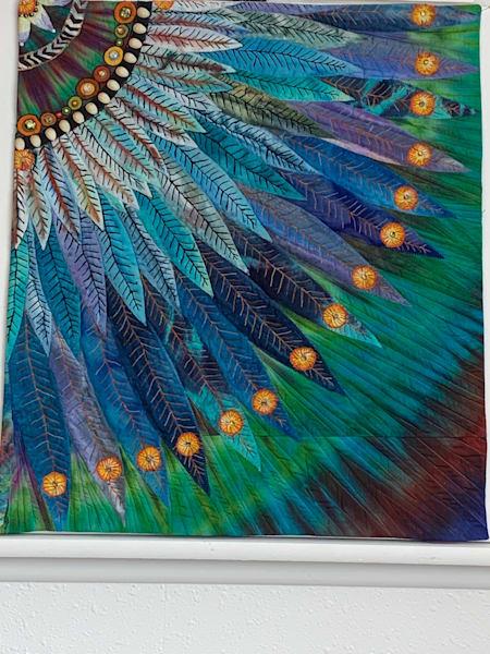 Blue Feathers Art | Barbara Olson Fiberarts